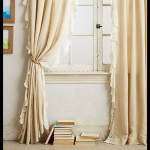 ISO Anthropologie Santina Ivory Lace Curtains